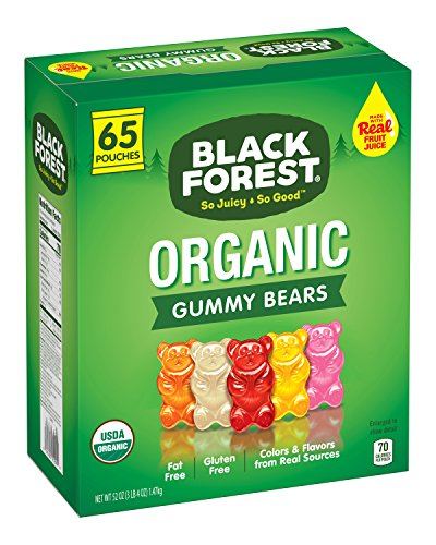 Black Forest Organic Candy, Gummy Bears, 65 Count (Cane Candy Bears)