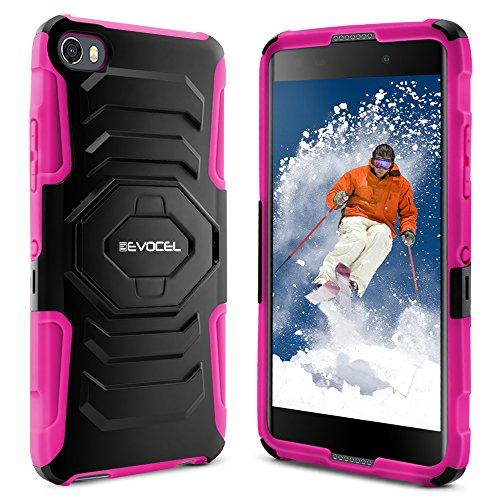 Alcatel Idol 5 Case, Evocel [New Generation Series] Belt Clip Holster,  Kickstand, Dual Layer for Alcatel Idol 5 (6060C), Pink (EVO-AL6060C-XX05)