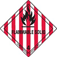 Labelmaster HML5 Flammable Solid Worded Label, Paper, Hazmat, 4 x 4 (Pack of 500)