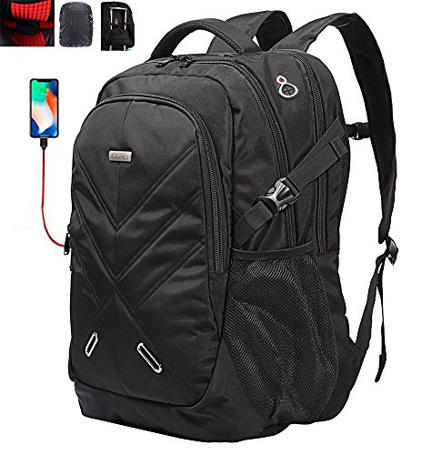 Laptop Backpack with USB Charging Port Shockproof Rain Cover Fits Under 18.4 Inch Gaming Laptop ShengTS (18.4 inches)