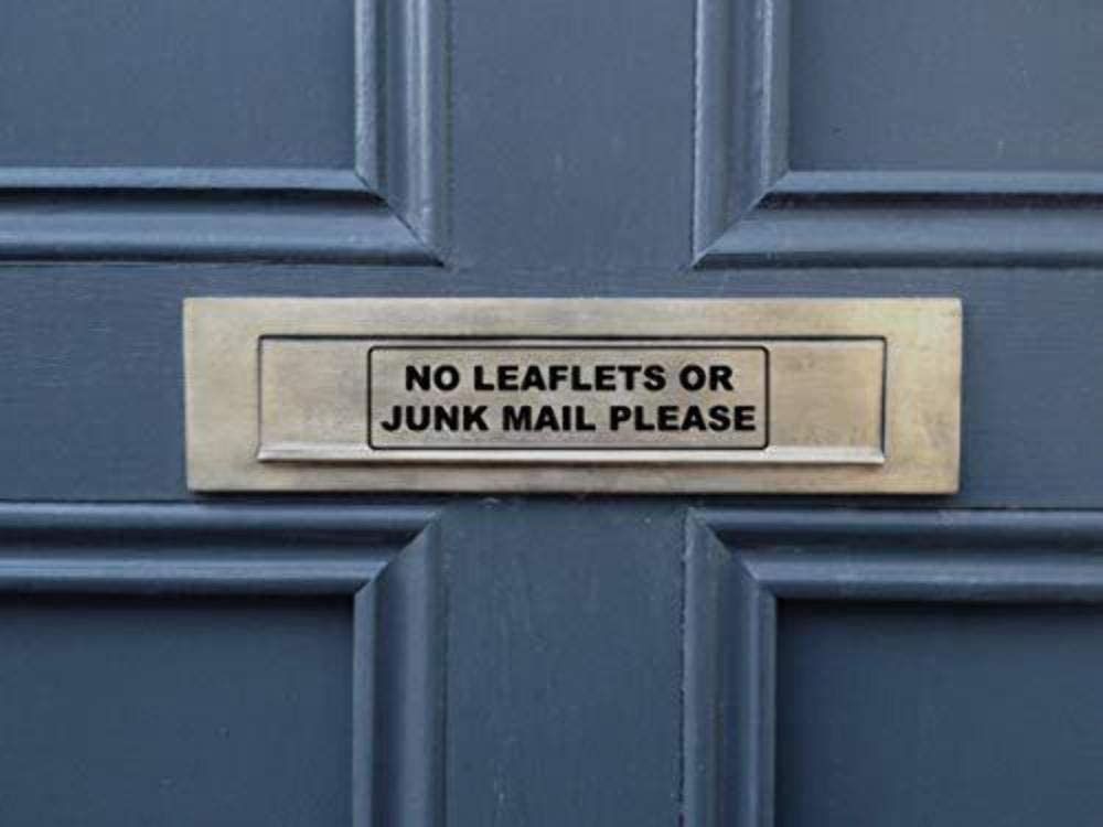 No Cold Callers Sticker No Junk Mail Please Front Door Letter Box Sign