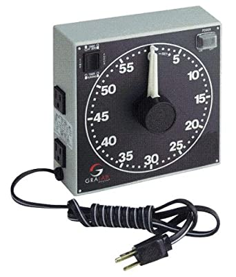 "GraLab Model 300, 60 Minute Photography and Darkroom Timer, 7-1/2"" Length x 7-1/2"" Width x 2-1/2"" Height"