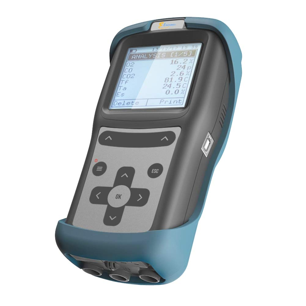 E Instruments E500-1 Combustion Analyzer with O2, CO, CO2, Combustion Efficiency. Maximize Combustion Efficiency of Residential and Light-Commercial Boilers, Water Heaters and Furnaces.