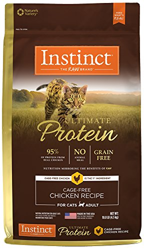 Instinct Ultimate Protein Grain Free Cage Free Chicken Recipe Natural Dry Cat Food by Nature's Variety, 10 lb. Bag by Instinct