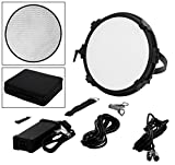 Fotodiox Pro FACTOR Jupiter12 VR-1200ASVL Kit - Bicolor Dimmable Studio Light with Grid and Carrying Case
