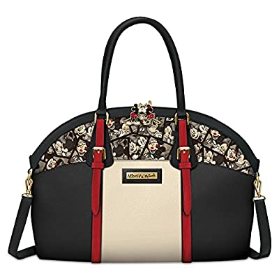 Disney Caught In The Moment Mickey Mouse And Minnie Mouse Handbag by The Bradford Exchange
