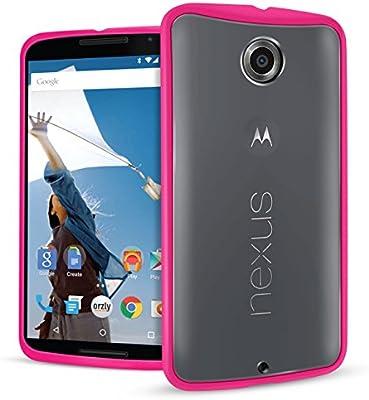 Orzly® - Motorola NEXUS 6 - Caja DURO Fusión Gel Funda ROSA (Alias ...