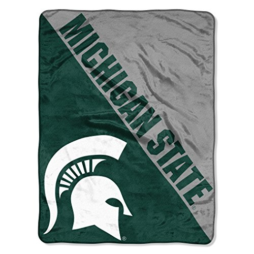 The Northwest Company Officially Licensed NCAA Michigan State Spartans Halftone Micro Raschel Throw Blanket, 46