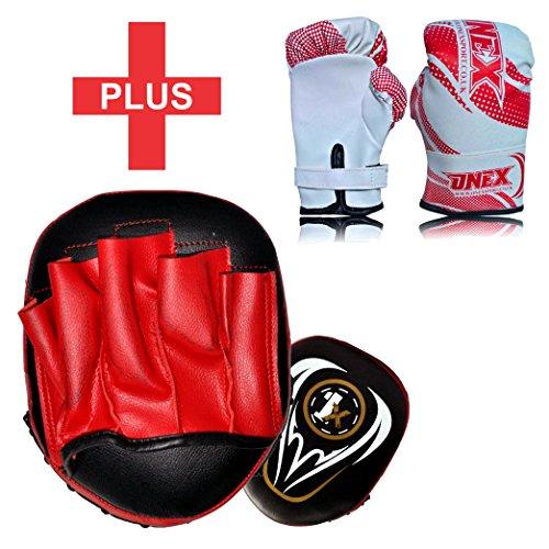 2oz Gloves MMA Martial Arts Hook /& Jab Strike Pads Target With Sparing Training