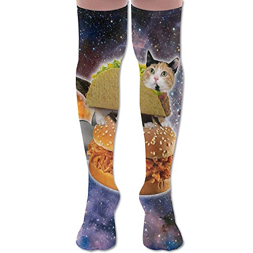 MASDUIH Mexican Burrito Cat Dresses Knee Thighs Stockings Running Thighs Socks.