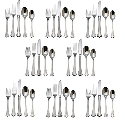 Reed & Barton 1800 18/10 Stainless Steel - 40 Piece Set (Service for (1800 Salad Fork)