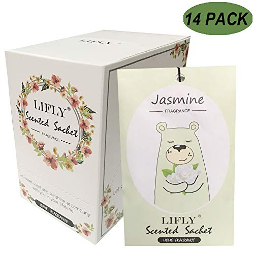 14 Packs Jasmine Scented Sachets fit Drawers & Closets Best Gift