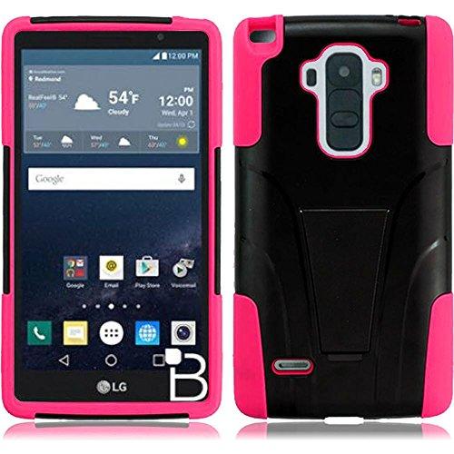 HR Wireless Cell Phone Cases for LG G Stylo LS770 H631 G4 Stylus - Black +Hot Pink -  BTSTAND-LGLS770-BKHpnk