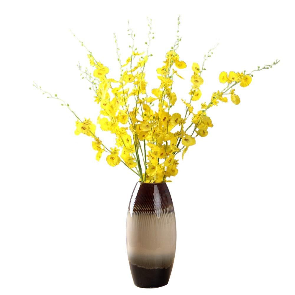 セラミック花瓶用花緑植物結婚式の植木鉢装飾ホームオフィスデスク花瓶花バスケットフロア花瓶 B07RHF6MS1