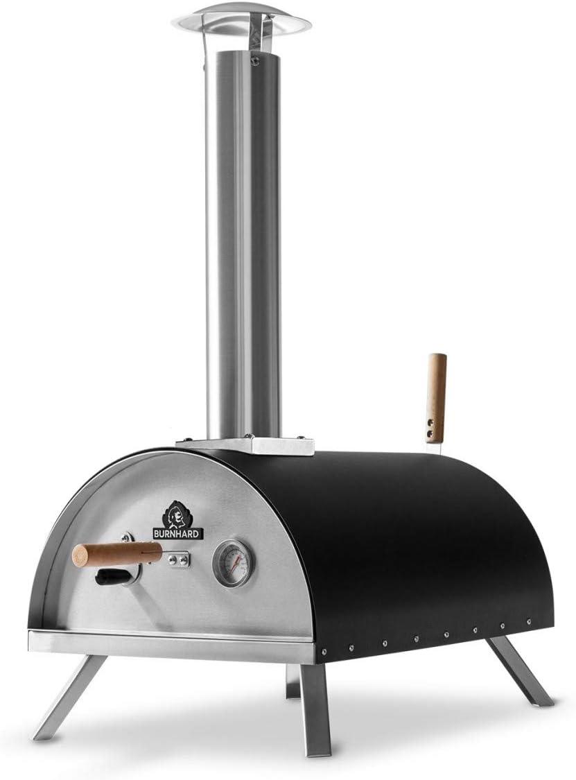 BURNHARD Horno para Pizzas Exterior de Acero Inoxidable Nero
