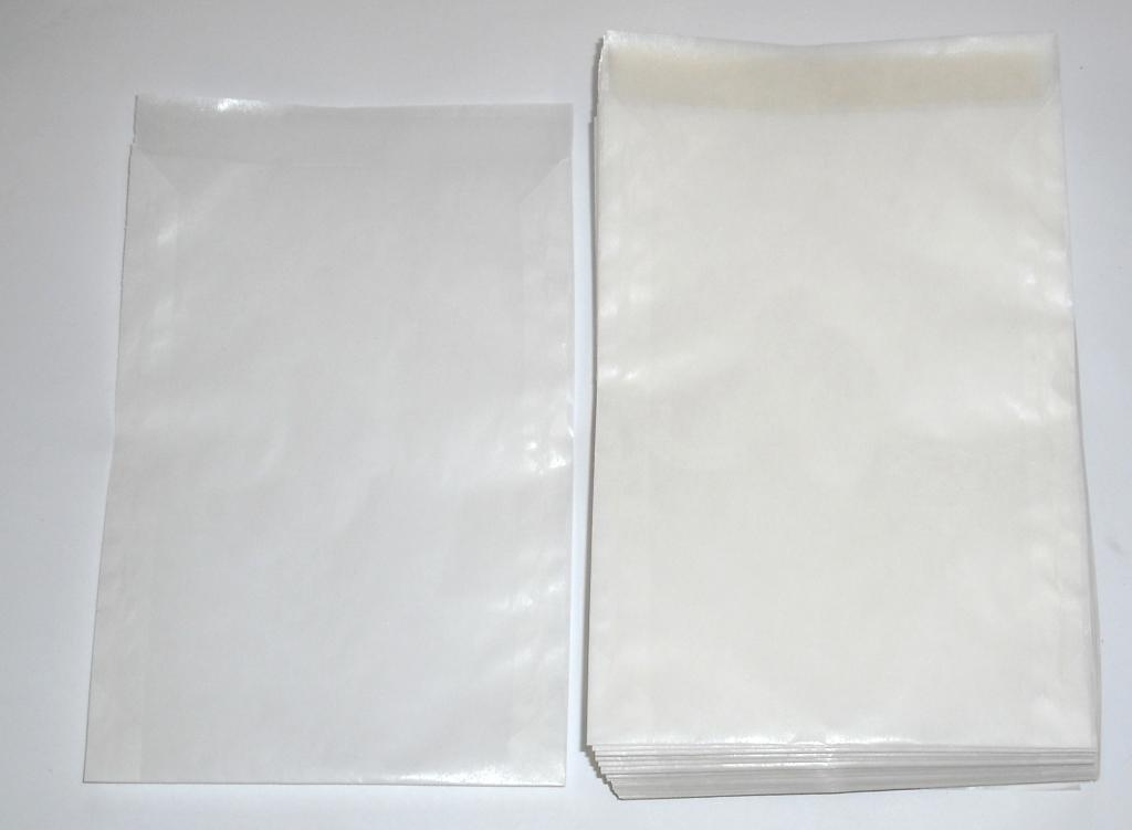 Pergamintüten flach mit Gummierung 11,5x16,0cm (1000St.)