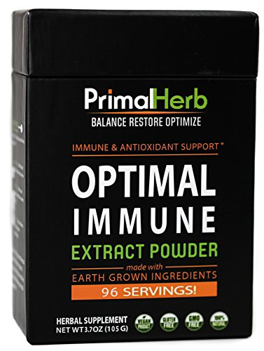 Immune & Wellness Support Formula | By Primal Herb | Super Antioxidant | Medicinal Mushrooms & Herbal Extract Powder - 96 Servings - Includes Bamboo - Herb Antioxidant Formula