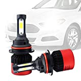 AUXITO Automobile 9007 Hi/Lo LED Headlight Bulbs All-in-One Conversion Kit 6500K Cool White 72W 8000Lms Per Pair -New Version with US COB LED Chips Super Bright