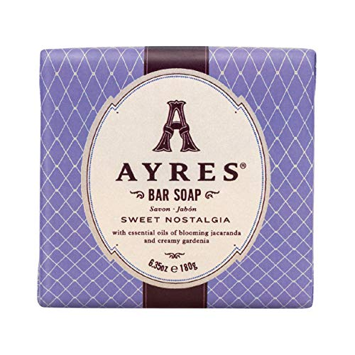 (AYRES Sweet Nostalgia Natural Cleansing Bar Soap 6.35 oz. (180g) | Enriched with Shea Butter, Grape Seed Oil & Olive Oil |Naturally Derived, vegetable based, infused with pure essential oils | Vegan)