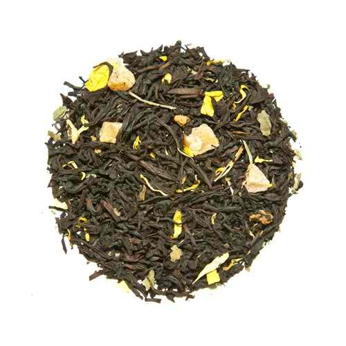 Apricot Confetti Loose Leaf Flavored Teas China Black with Keemun and Marigold Petals - 5 Pounds by Buffalo Buck's Coffee