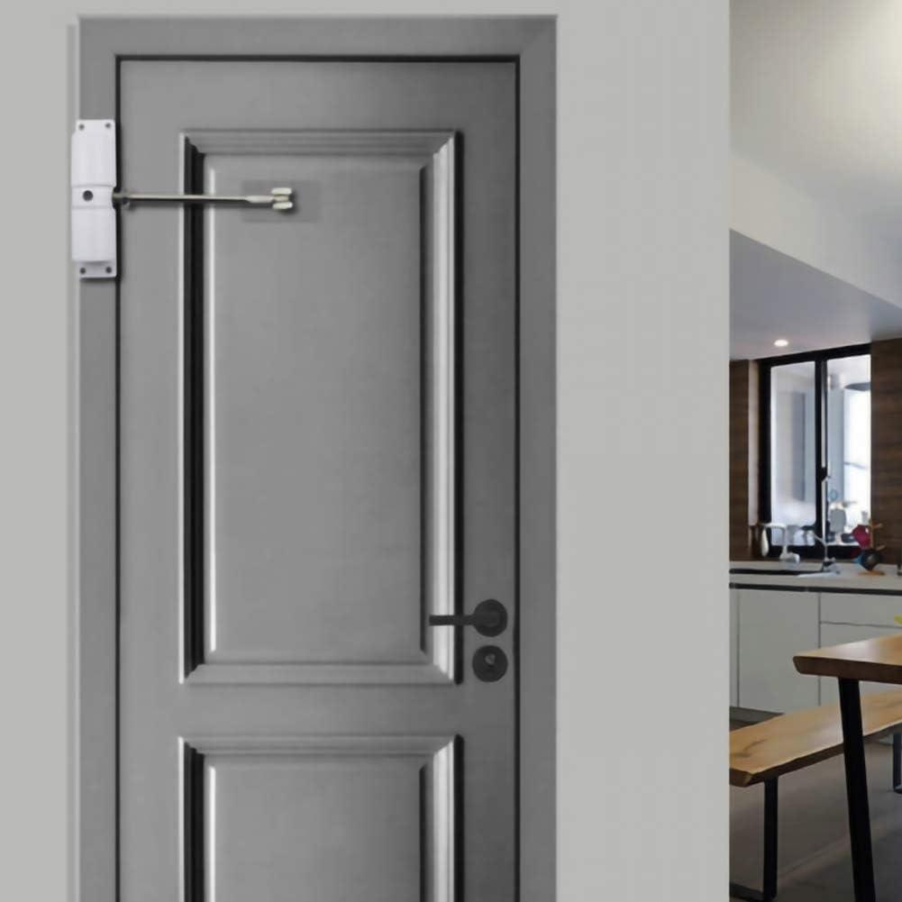 blanco Cierre de puerta de resorte ajustable de acero inoxidable con bisagra de cierre autom/ático para puerta con funci/ón de incendio BESTEU