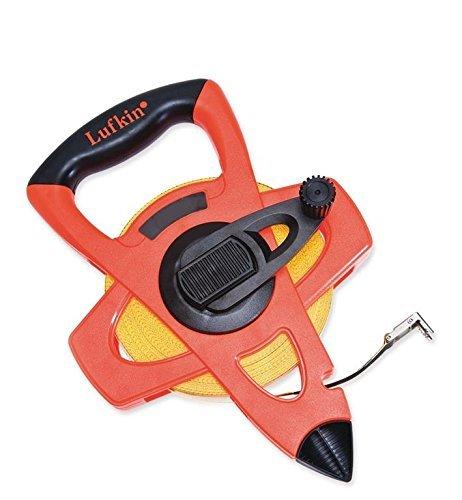 Lufkin FE100 1/2 x 100' Hi-Viz Orange Fiberglass Tape Measure, Feet & Inches, Model: FE100, Outdoor & Hardware Store ()