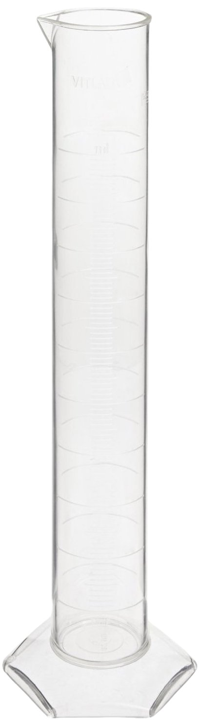 Vitlab Class A Certified Polymethylpentene Graduated Cylinder, 50ml Capacity (Pack of 2)