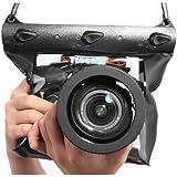 Tteoobl Negro Cubierta impermeable de bolsa bolsillo para DSLR SLR 600D 40D 60D 7D 5D , Nikon D80 D90 D700 D5100 7000 (Camara no esta incluido)