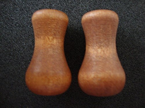(Real Wood Blind Tassels/ Cord Drop in CHERRY Stain, Vase Shaped (8))