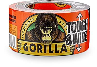 "Gorilla Tape, Black Tough & Wide Duct Tape, 2.88"" x 30 yd, Black from Gorilla"