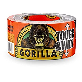 "Gorilla Tape, Black Tough & Wide Duct Tape, 2.88"" x 30 yd, Black"