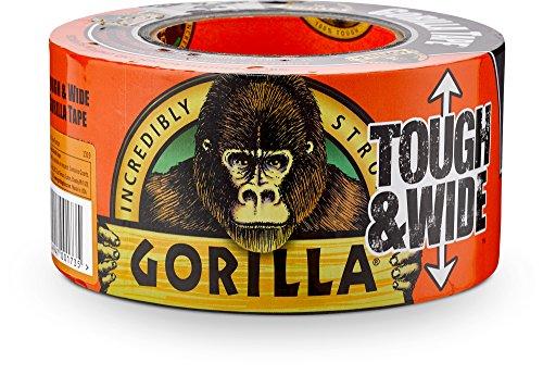 Gorilla Tape, Black Tough & Wide Duct Tape, 2.88″ x 30 yd, Black