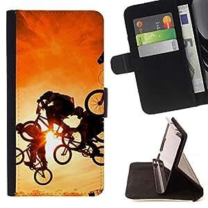 Momo Phone Case / Flip Funda de Cuero Case Cover - Stunt Caja Amarilla Deportes extremos de bicicletas - LG Nexus 5 D820 D821