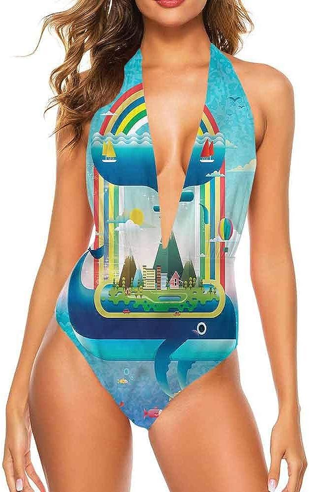 Ensemble de bikini pour femme baleine, trois chats Big Fish Magic si unique et différent Multi 19