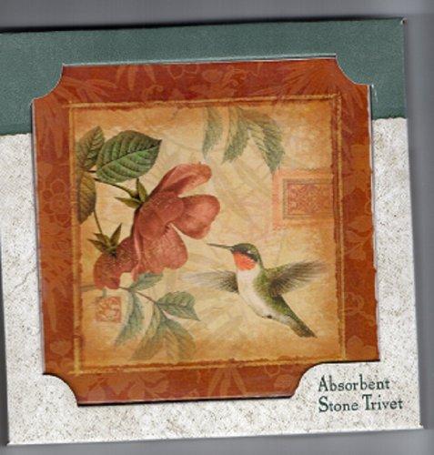 Brown Humming Bird Absorbastone Six Inch Trivet