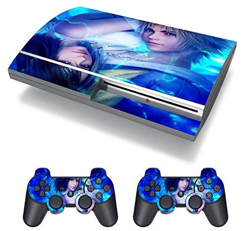 EBTY-Dreams Inc. - Sony Playstation 3 (PS3 FAT) - Final Fantasy 10 X FF10 FFX Yuna Tidus Vinyl Skin Sticker Decal Protector