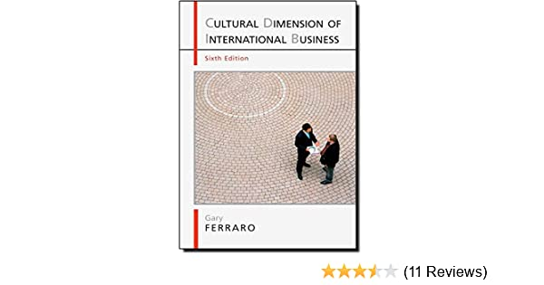 Amazon com: The Cultural Dimension of International Business