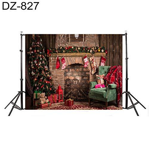 856store DZ-834 - Fondo de fotografía para Chimenea, diseño de Ciervo navideño para niños, Dz-827
