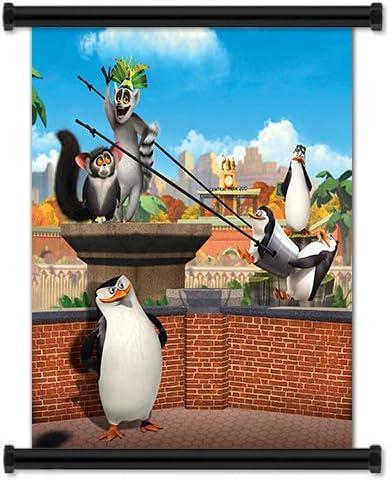 Los Pingüinos De Madagascar Serie De Televisión Animada Tela Póster De Desplazamiento De Pared 32 X 33 Pulgadas Home Kitchen
