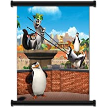"""The Penguins of Madagascar Animated TV Series Fabric Wall Scroll Poster (16"""" X 16"""") Inches"""