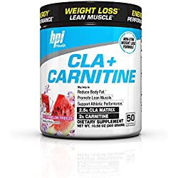 BPI Sports Cla + Carnitine Non-Stimulant Weight Loss Supplement Powder, Watermelon Freeze, 10.58 Ounce