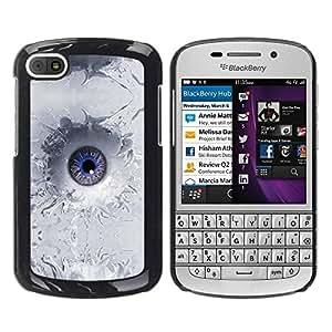 Caucho caso de Shell duro de la cubierta de accesorios de protección BY RAYDREAMMM - BlackBerry Q10 - Abstract Eye Splash
