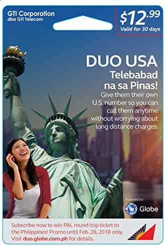 Globe DUO USA Prepaid Card