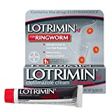 Lotrimin AF Ringworm Cream, Clotrimazole 1%, Clinically Proven Effective Antifungal Treatment of Most Ringworm, For Adults and Kids Over 2 years, Cream, .42 Ounce (12 Grams)