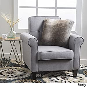 Barzini Button Tufted Fabric Club Chair