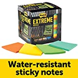 Post-it Extreme Notes, Green, Orange, Mint, Yellow, Features Dura-Hold Paper and Adhesive, 3 in x 3 in, 12 Pads/Pack, 45 Sheets/Pad (EXTRM33-12TRYX)