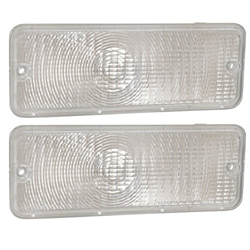 Pair of Park Signal Front Marker Lights Lamps Clear Lenses Replacement for Ford Pickup Truck D5TZ13200A ()