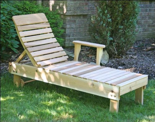 Cedar Chaise (Red Cedar Highback Chaise Lounge)