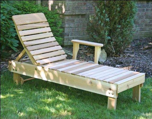 Red Cedar Chaise Lounge Chair - Red Cedar Highback Chaise Lounge