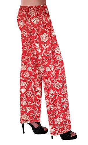 Leggings Filles Design215 Comfort Dames Plus Floral Multi Size Pantalons Palazzo Femmes Élastique Imprimer qS810B